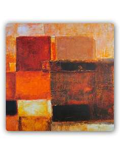 Plaque acier décorative DES FORMES SOMBRES - ABSTRAIT - par Feeby