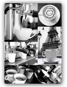 Plaque acier décorative MONOCHROME CAFÉ - par Feeby