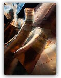 Plaque acier décorative PLIS DE LA FEUILLE DE MÉTAL - par Feeby