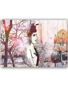 Plaque acier décorative LA FRANÇAISE - par Feeby