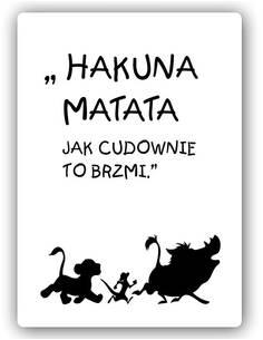 Plaque acier décorative MATATA HAKUNA 3 - par Feeby