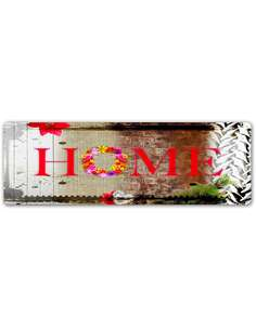 Plaque acier décorative FLEURS - par Feeby
