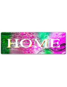 Plaque acier décorative HOME 2 - par Feeby