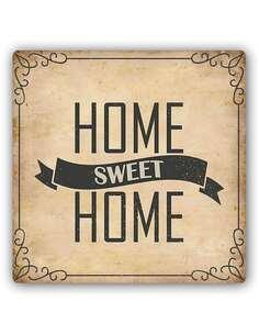 Plaque acier décorative HOME SWEET HOME - par Feeby