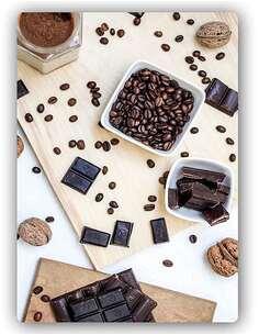 Plaque acier décorative LE CAFÉ, LES NOIX DE CHOCOLAT - par Feeby