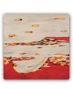 Plaque acier décorative LA COMPOSITION ABSTRAITE - par Feeby