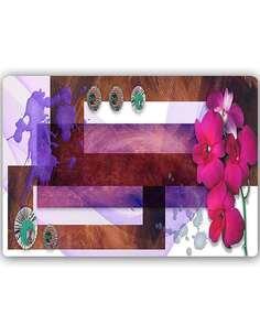 Plaque acier décorative LA COMPOSITION ORCHIDÉE DES MARAIS - par Feeby