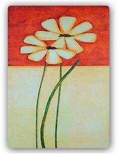 Plaque acier décorative LA PEINTURE FLEURS - par Feeby