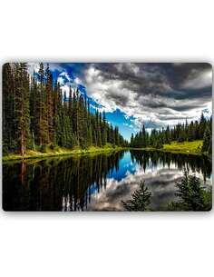 Plaque acier décorative FOREST LAKE - par Feeby