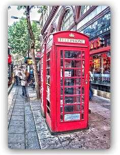 Plaque acier décorative LONDRES - CABINES TÉLÉPHONIQUES À R KULIK - par Feeby