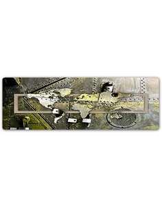 Plaque acier décorative PLANISPHÈRE - ACIER - par Feeby