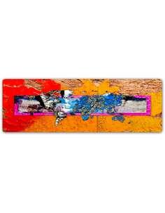 Plaque acier décorative PLANISPHÈRE - MUR - par Feeby