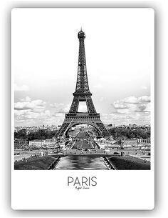 Plaque acier décorative PARIS - par Feeby