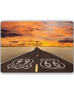 Plaque acier décorative ROUTE 66 ROUTE - par Feeby