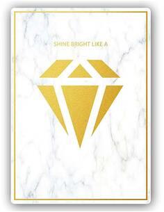 Plaque acier décorative BRILLER COMME UN DIAMANT 3 - par Feeby