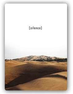 Plaque acier décorative SILENCE 2 - par Feeby
