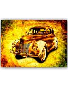 Plaque acier décorative AUTO STARE - par Feeby
