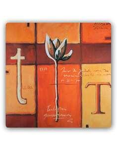 Plaque acier décorative T COMME TULIPE - par Feeby