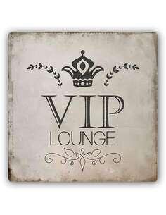 Plaque acier décorative UN SALON VIP - par Feeby