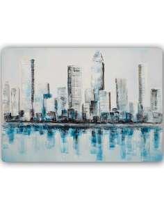 Plaque acier décorative L'EAU GRATTE-CIEL - par Feeby