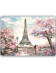 Plaque acier décorative PRINTEMPS À PARIS - par Feeby