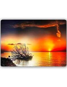 Plaque acier décorative COUCHER DE SOLEIL SUR LA MER 4 - par Feeby