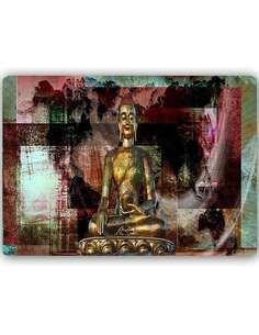 Plaque acier décorative L'OR BOUDDHA 3 - par Feeby