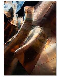 Tableau FEUILLE PLIS imprimé sur bois - par Feeby