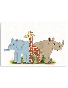Tableau AMIS AFRICAINS imprimé sur bois - par Feeby