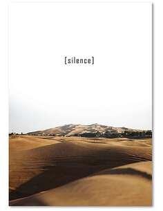 Tableau SILENCE 2 imprimé sur bois - par Feeby