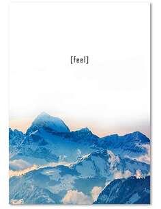 Tableau RESSENTIR imprimé sur bois - par Feeby