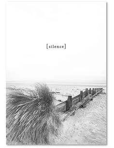 Tableau SILENCE imprimé sur bois - par Feeby