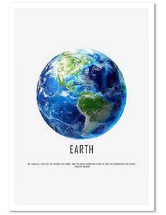 Tableau GLOBE imprimé sur bois - par Feeby