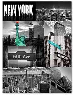 Tableau NEW YORK imprimé sur bois - par Feeby