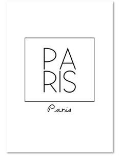 Tableau PARIS 2 imprimé sur bois - par Feeby