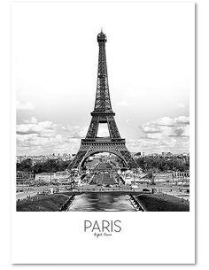 Tableau PARIS imprimé sur bois - par Feeby