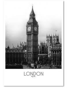 Tableau LONDRES imprimé sur bois - par Feeby