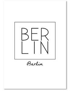 Tableau BERLIN imprimé sur bois - par Feeby