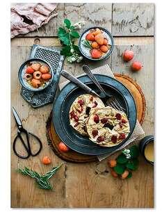 Tableau PLAT DE FRUITS imprimé sur bois - par Feeby