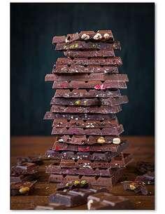 Tableau PILE DE CHOCOLAT imprimé sur bois - par Feeby