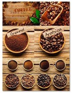 Tableau CAFÉ ARABICA imprimé sur bois - par Feeby