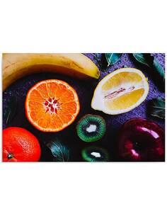 Tableau COMPOSITION DE FRUITS 2 imprimé sur bois - par Feeby