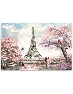 Tableau PRINTEMPS À PARIS imprimé sur bois - par Feeby