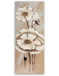 Tableau DEUX FLEURS 1 imprimé sur bois - par Feeby