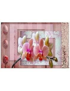 Tableau ORCHIDÉE ROSE imprimé sur bois - par Feeby