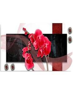 Tableau ORCHIDÉE COMPOSITION imprimé sur bois - par Feeby