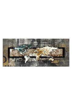 Tableau CARTE DU MONDE - CRU imprimé sur bois - par Feeby