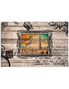 Tableau BONJOUR PARIS 2 imprimé sur bois - par Feeby