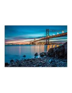 Tableau BAY BRIDGE W SAN FRANCISCO imprimé sur bois - par Feeby