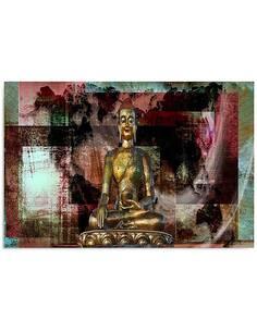 Tableau GOLDEN BUDDHA 3 imprimé sur bois - par Feeby